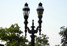 Retro street lights in downtown Clovis