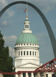 CIty Hall and Gateway Arch